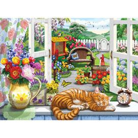 Window On The Garden 1000 Piece Jigsaw Puzzle