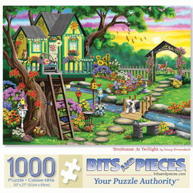 Treehouse At Twilight 1000 Piece Jigsaw Puzzle