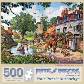 A Village In The Summer 500 Piece Jigsaw Puzzle