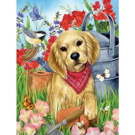 Garden Puppy 300 Large Piece Jigsaw Puzzle