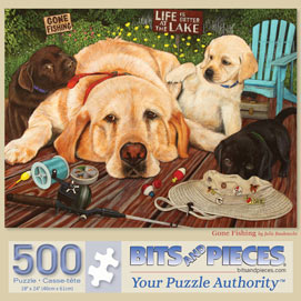 Gone Fishing 500 Piece Jigsaw Puzzle