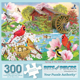 Spring At The Mill Pond 300 Large Piece Jigsaw Puzzle