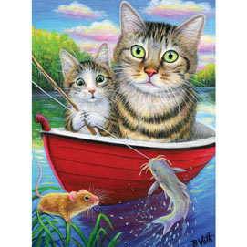 Fishing With Father 500 Piece Jigsaw Puzzle