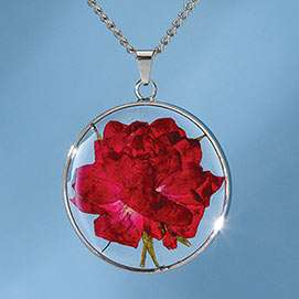 Birth Flower Necklace - June (Rose)