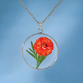 Birth Flower Necklace - October (Cosmos)