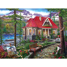 Countryside House 500 Piece Jigsaw Puzzle