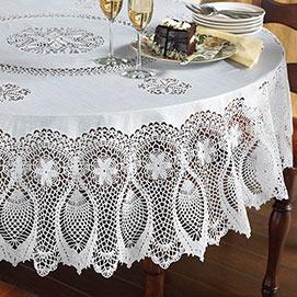Faux Lace Tablecloths