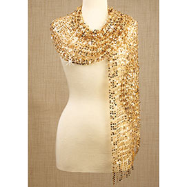 Sequined Scarf - Gold