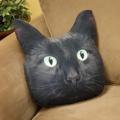 Black Cat Pillow