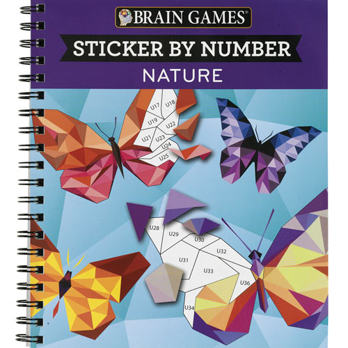 Nature Sticker By Number Book