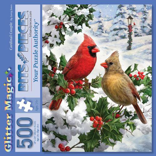 Cardinal Couple 500 Piece Jigsaw Puzzle