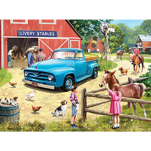 A Stop At The Stables 1000 Piece Jigsaw Puzzle