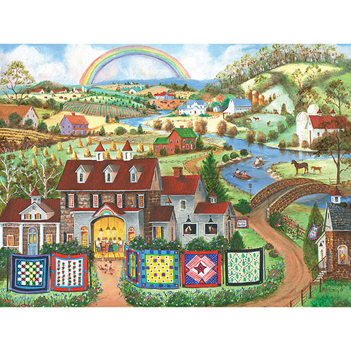Rainbow Quilters 1000 Piece Jigsaw Puzzle