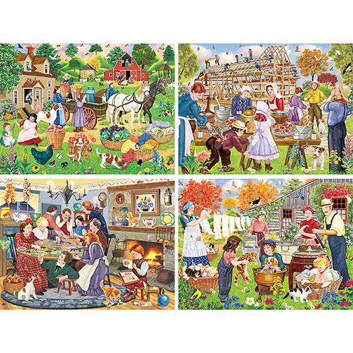 Set of 4: Rosiland Solomon 500 Piece Jigsaw Puzzles