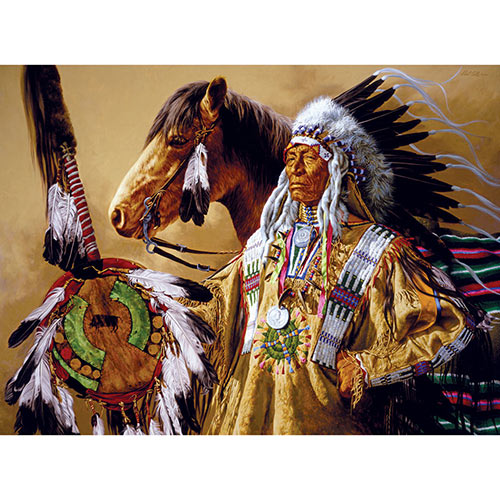 Chief High Pipe 300 Large Piece Jigsaw Puzzle