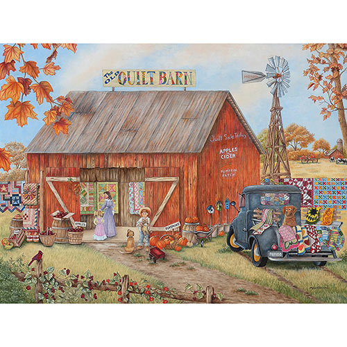 Quilt Barn 300 Large Piece Jigsaw Puzzle