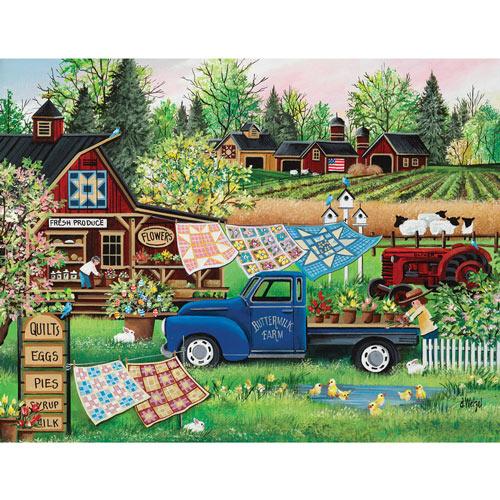 Buttermilk Farm Spring 300 Large Piece Jigsaw Puzzle