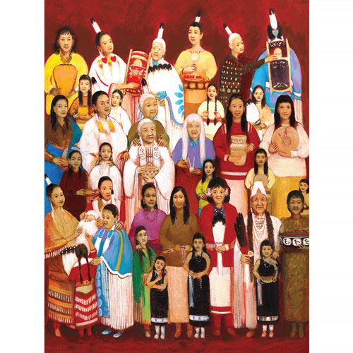 Passing On Traditions 300 Large Piece Jigsaw Puzzle