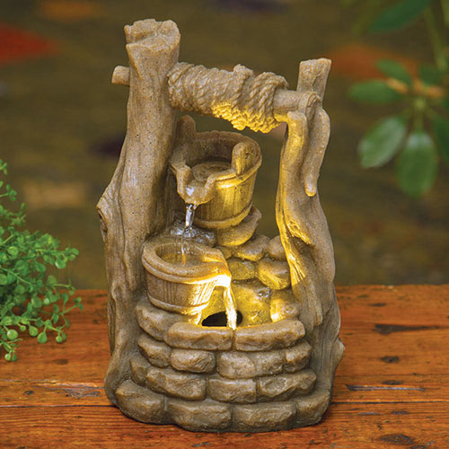 Wishing Well LED Fountain