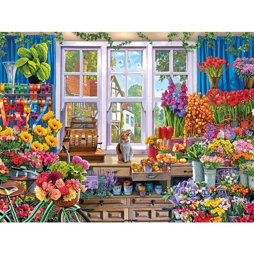 Flower Shop 300 Large Piece Jigsaw Puzzle