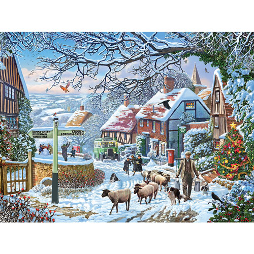Country Winter Bus 300 Large Piece Jigsaw Puzzle