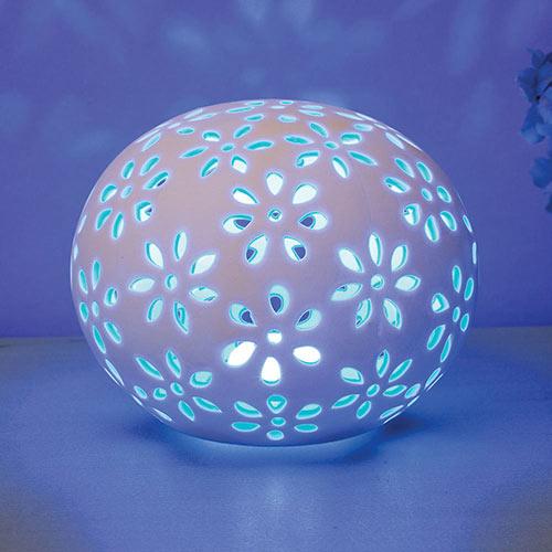 Porcelain Flower LED Light