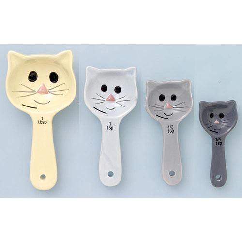 Set of 4: Cat Measuring Spoons