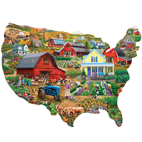 Farm Country USA 750 Piece Shaped Puzzle