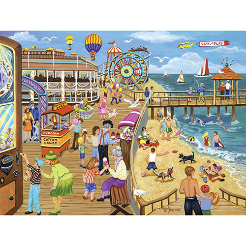 Ice Cream on the Boardwalk 300 Large Piece Jigsaw Puzzle