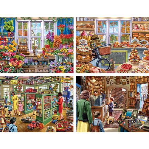 Set of 4: Steve Crisp 500 Piece Jigsaw Puzzles