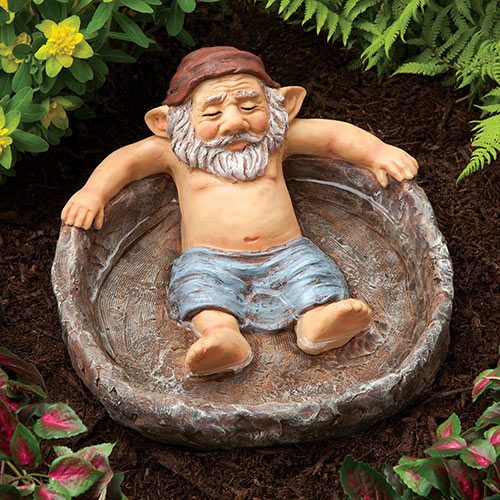 Relaxing Gnome Pool Garden Sculpture