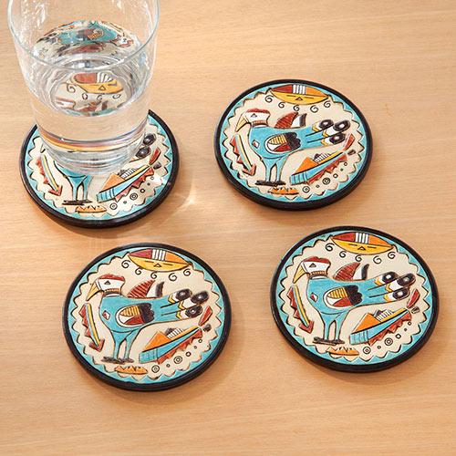 Set of 4: Native American Coasters