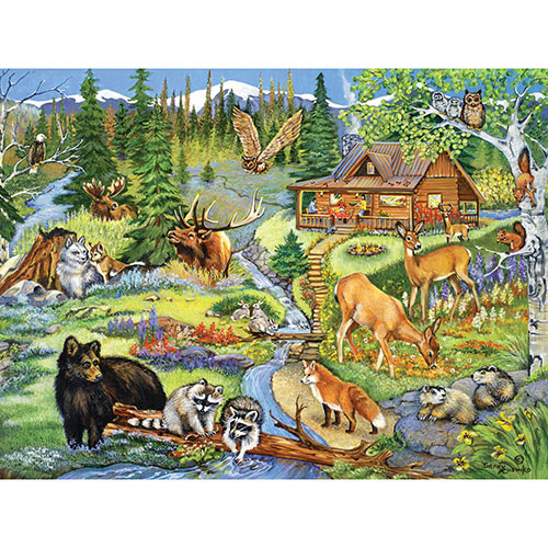 Forest Lodge 300 Large Piece Jigsaw Puzzle