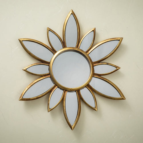 Mirrored Floral Wall Decor