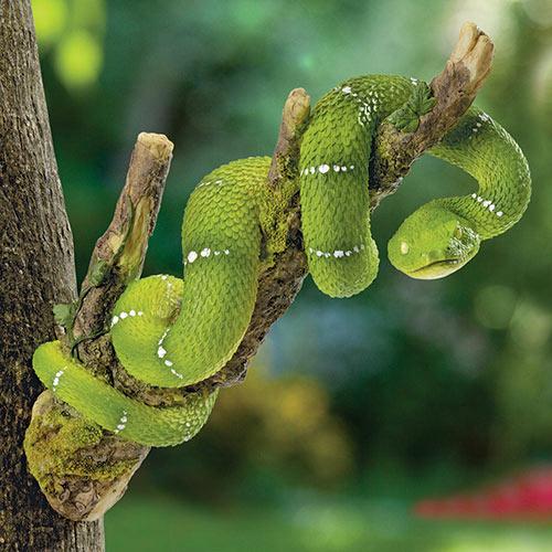 Snake on a Tree Animal Garden Sculpture