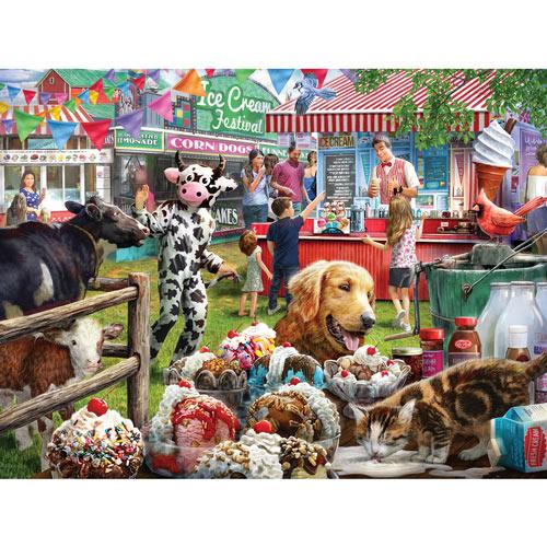Ice Cream Festival 300 Large Piece Jigsaw Puzzle
