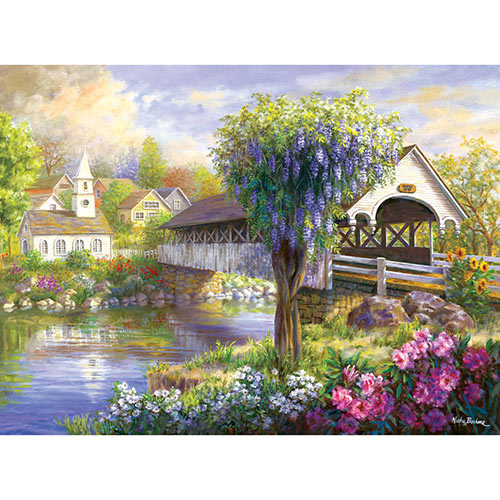 Picturesque Covered Bridge 1000 Piece Jigsaw Puzzle