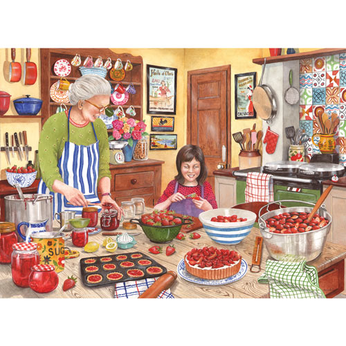 Grandma's Kitchen Strawberry Jam 1000 Piece Jigsaw Puzzle