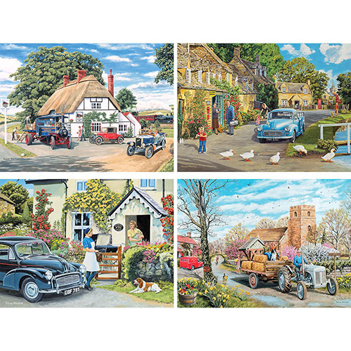 Set of 4: Trevor Mitchell 300 Large piece Jigsaw Puzzles