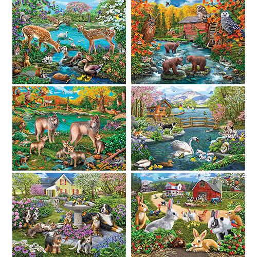 Set of 6: Mary Thompson 1000 Piece Jigsaw Puzzles