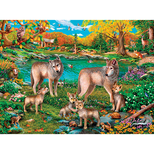 Lake Wolves 1000 Piece Jigsaw Puzzle