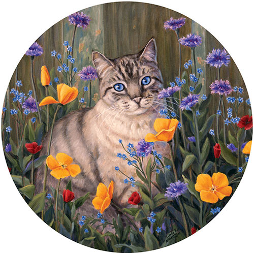 Forget Me Not 500 Piece Round Jigsaw Puzzle