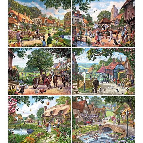 Set of 6: Steve Crisp 500 Piece Jigsaw Puzzles