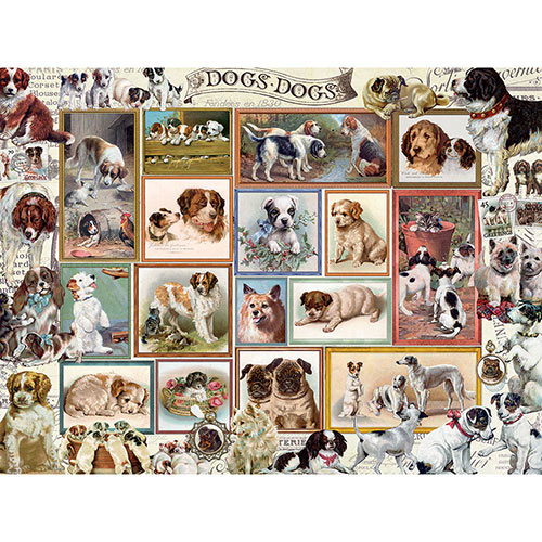 Dogs In Frames 300 Large Piece Jigsaw Puzzle