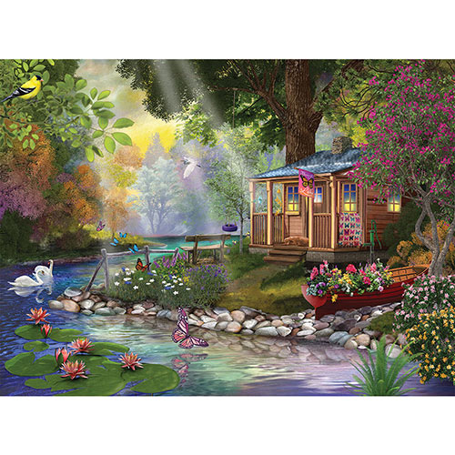 Butterfly Lake 1000 Piece Jigsaw Puzzle