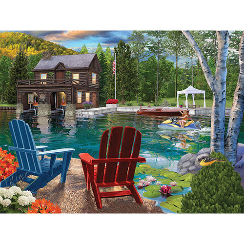 Summer At The Boathouse 300 Large Piece Jigsaw Puzzle