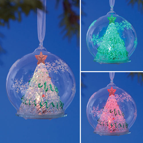 Color Changing Christmas Ornament