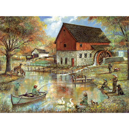 The Old Mill Pond 1000 Piece Jigsaw Puzzle