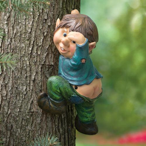 Motion Sensor Elf On A Tree