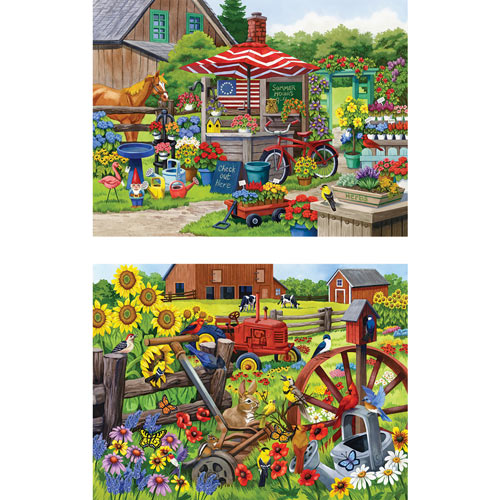Set of 2: Nancy Wernersbach 300 Large Piece Jigsaw Puzzles